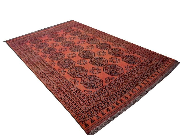 Large Ersari Tribal Turkoman Rug For Sale 8