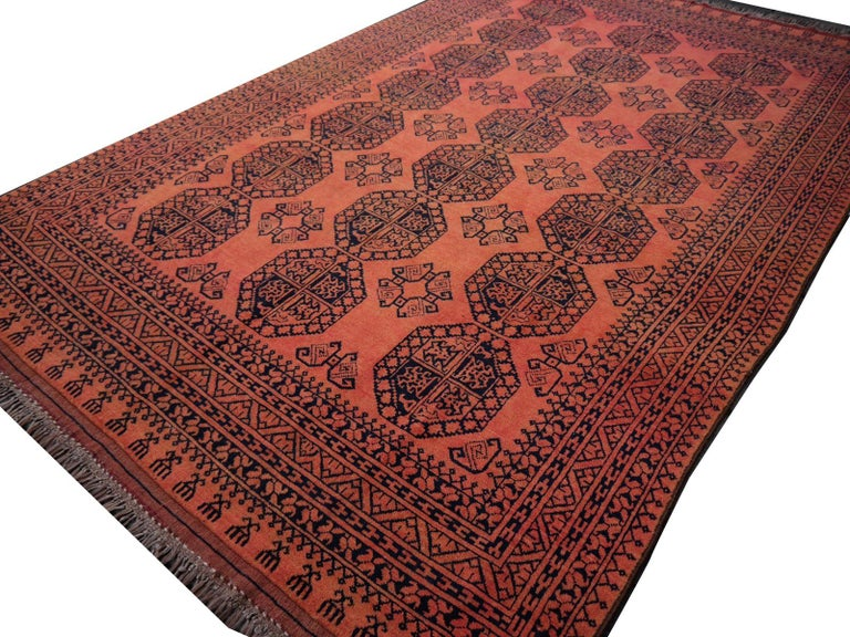 Large Ersari Tribal Turkoman Rug For Sale 10