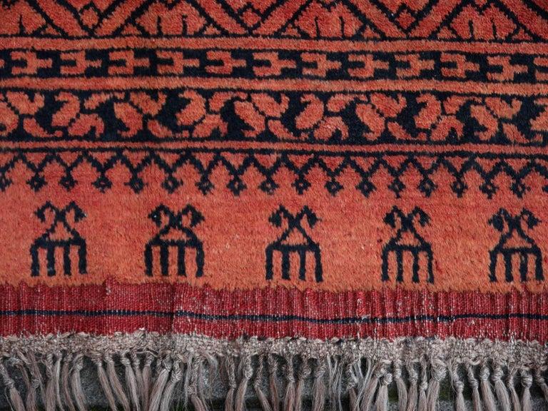 Hand-Knotted Large Ersari Tribal Turkoman Rug For Sale