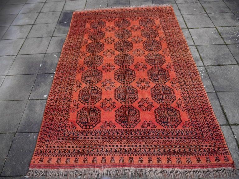 Wool Large Ersari Tribal Turkoman Rug For Sale