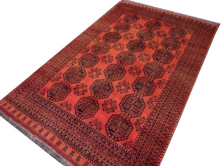 Large Ersari Tribal Turkoman Rug For Sale 1