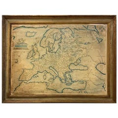 Large European Map Framed Antique from Theatrum Orbist Terrarum