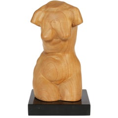 Large & Exceptional English Hand Carved Limewood Naked Lady Torso Sculpture