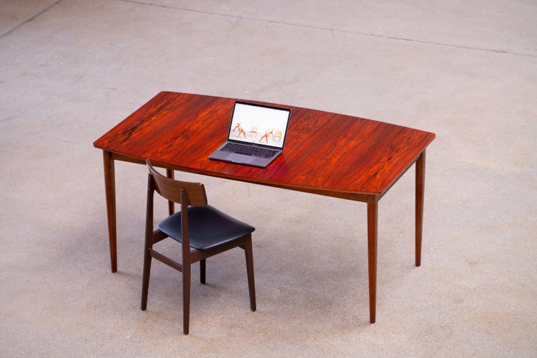 Large Expendable Rosewood Dining Table by Tom Robertson for McIntosh, 1960s For Sale 4