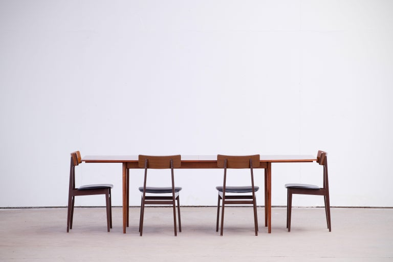 Large Expendable Rosewood Dining Table by Tom Robertson for McIntosh, 1960s For Sale 5