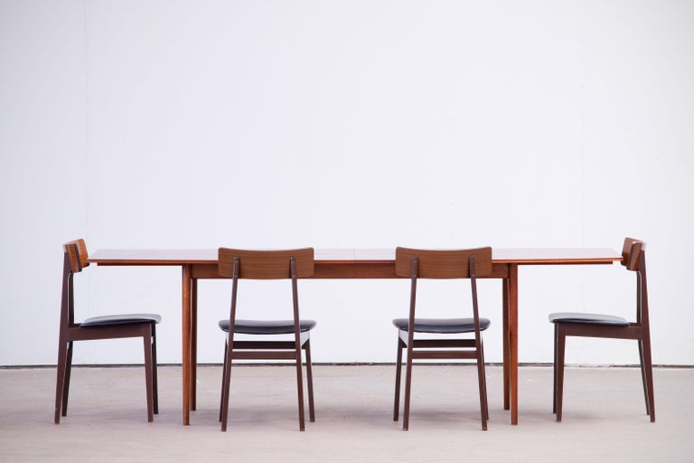 Large Expendable Rosewood Dining Table by Tom Robertson for McIntosh, 1960s For Sale 6
