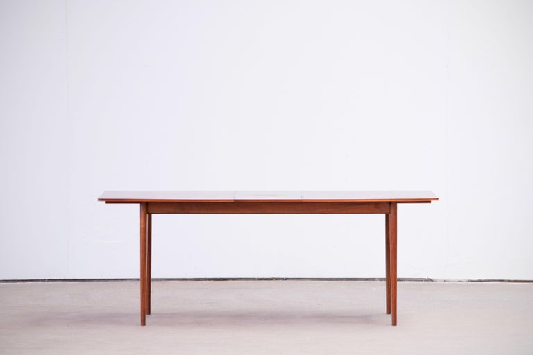 Large Expendable Rosewood Dining Table by Tom Robertson for McIntosh, 1960s For Sale 8