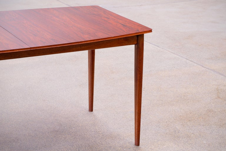 Large Expendable Rosewood Dining Table by Tom Robertson for McIntosh, 1960s For Sale 11