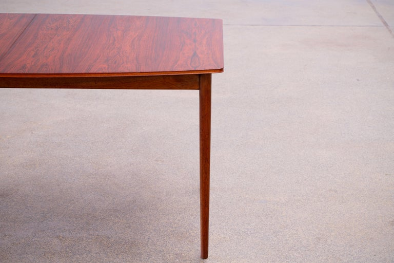 Large Expendable Rosewood Dining Table by Tom Robertson for McIntosh, 1960s For Sale 12