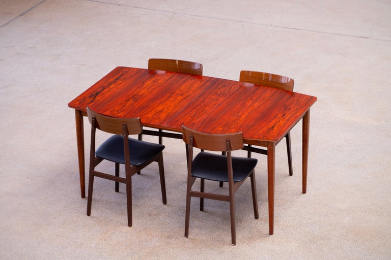 Large Expendable Rosewood Dining Table by Tom Robertson for McIntosh, 1960s For Sale 3