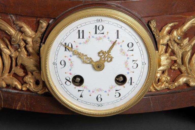 Large Clock Garniture Signed Houdon For Sale 5