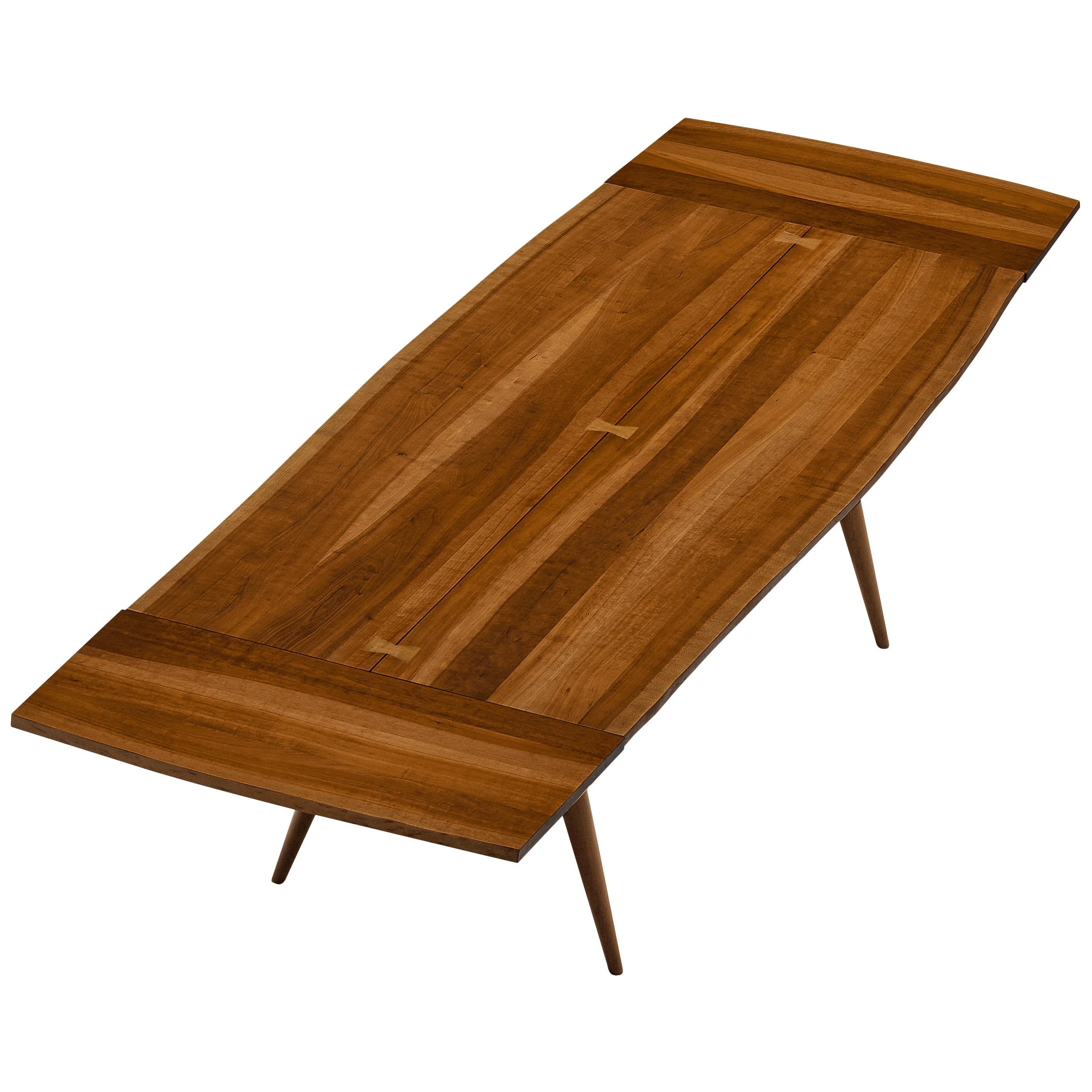 Large Extendable George Nakashima Dining Table in Cherry