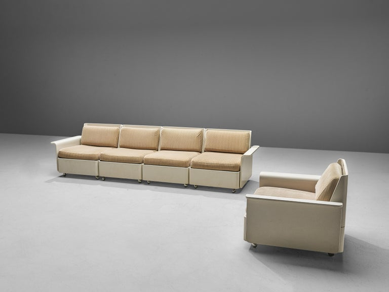 Large Extendable Modular Sofa on Wheels For Sale 3