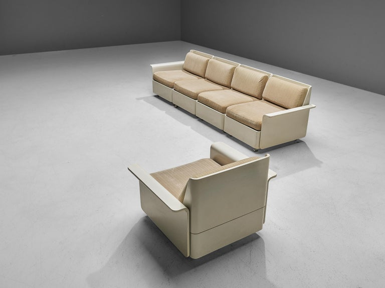 Large Extendable Modular Sofa on Wheels For Sale 5