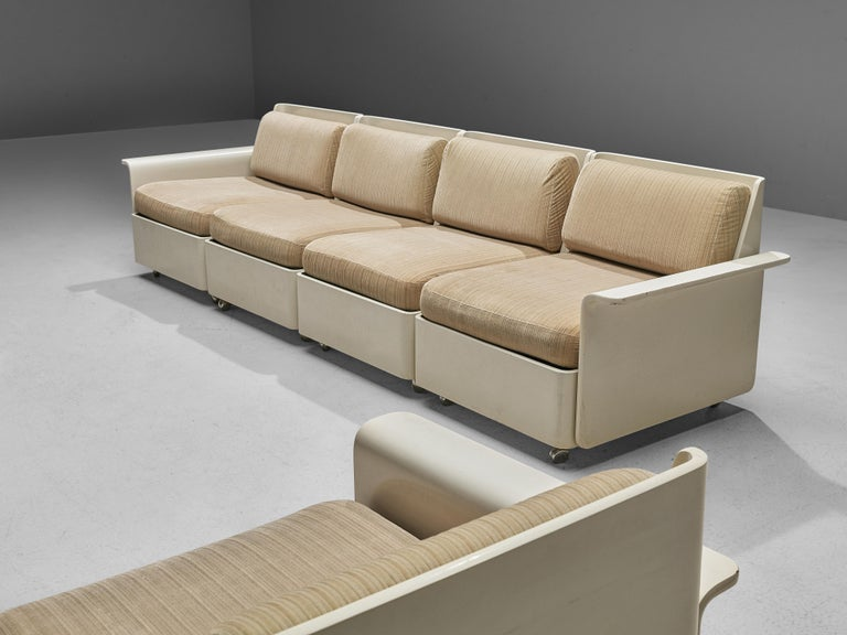 Large Extendable Modular Sofa on Wheels For Sale 6