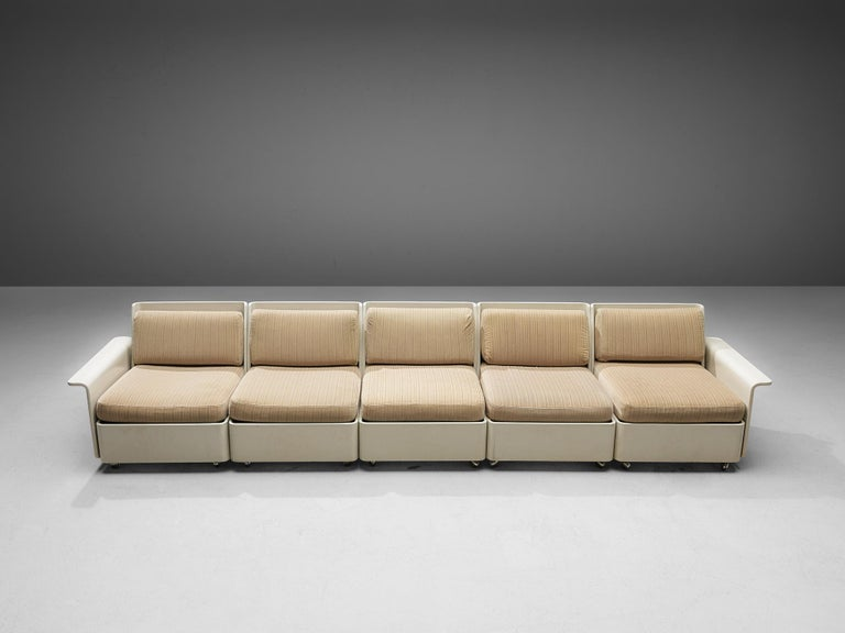 Large Extendable Modular Sofa on Wheels For Sale 7
