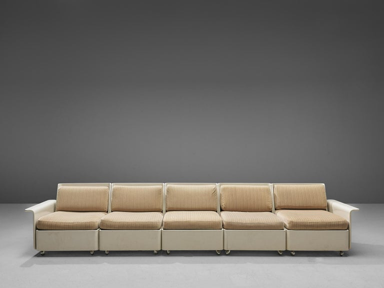 Large Extendable Modular Sofa on Wheels For Sale 8