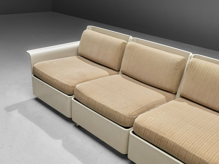 German Large Extendable Modular Sofa on Wheels For Sale