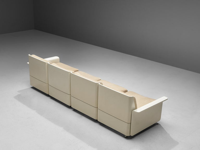 Mid-20th Century Large Extendable Modular Sofa on Wheels For Sale