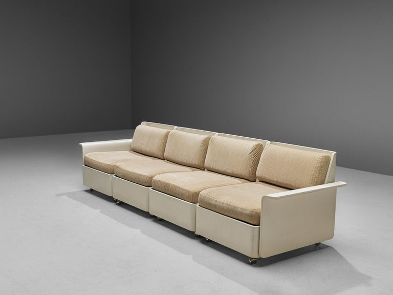 Large Extendable Modular Sofa on Wheels For Sale 1