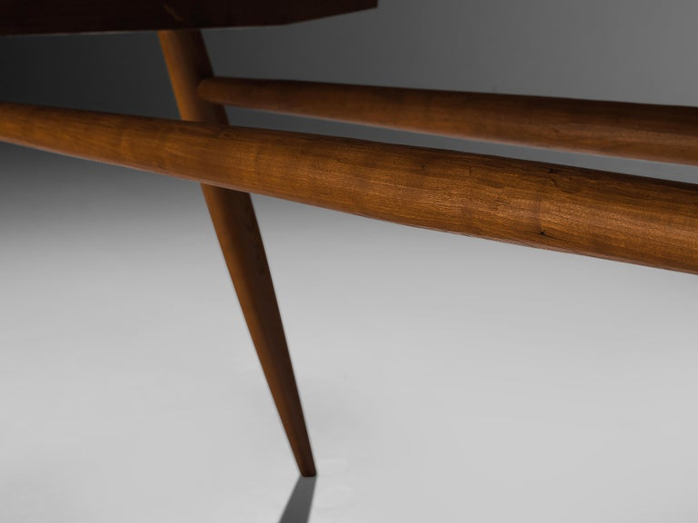 Large Extendable Nakashima Free Edge Dining Table in Cherrywood For Sale 7