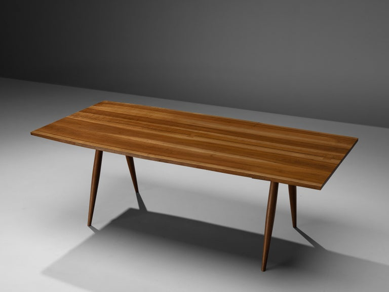 Large Extendable Nakashima Free Edge Dining Table in Cherrywood For Sale 8