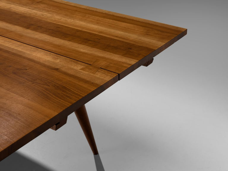 Large Extendable Nakashima Free Edge Dining Table in Cherrywood For Sale 9
