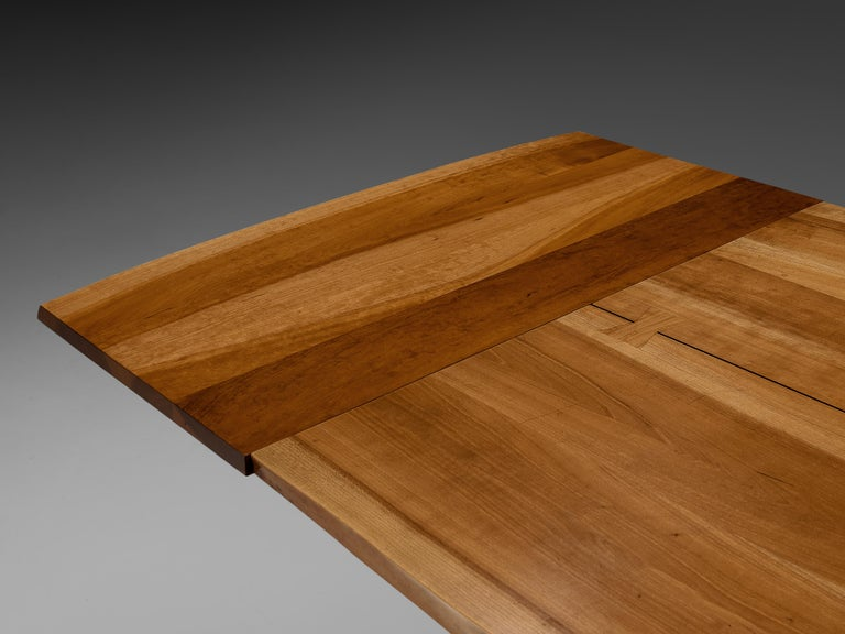 Mid-Century Modern Large Extendable Nakashima Free Edge Dining Table in Cherrywood For Sale
