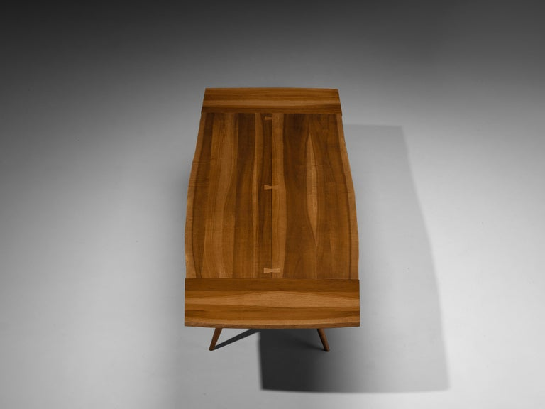 Large Extendable Nakashima Free Edge Dining Table in Cherrywood For Sale 2