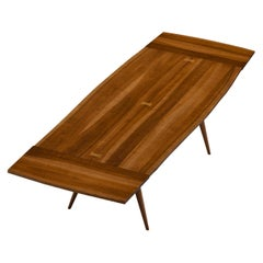 Large Extendable Nakashima Free Edge Dining Table in Cherrywood