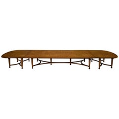 Large Extendable Oak Table with Versatile Positions