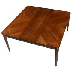 Large Extendable Rectangle to Square Cherrywood Butterfly Leaf Dining Table