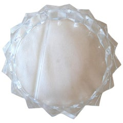 Large Faceted Lucite Divided Bowl Chip and Dip