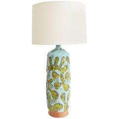 Large Fat Lava Texture Ceramic Lamp