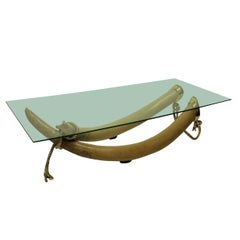Large Faux Tusk Occasional Table by Valenti