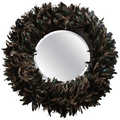 Large Feathered Mirror