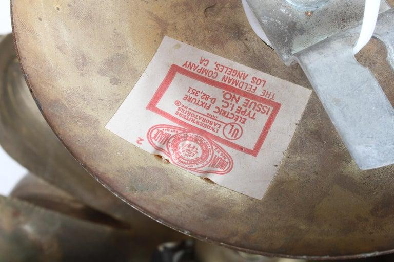 Large Feldman Lighting Company Brass Lotus Chandelier For Sale 4