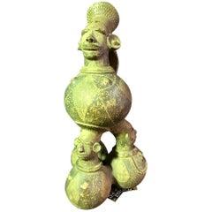 Large Figurative African 'Mangbetu' Anthropomorphic Ceramic Vessel or Jar