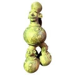 Large Figurative African Mangbetu Anthropomorphic Ceramic Vessel or Jar