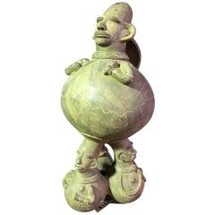 Large Figurative African 'Mangbetu' Anthropomorphic Vessel/ Jar