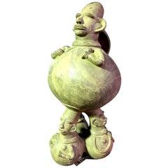 Large Figurative African Mangbetu Anthropomorphic Vessel/ Jar