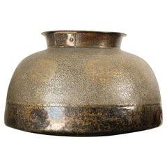 Large Fine Antique Islamic Inlaid Indo-Persian Copper Mughal Vessel