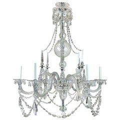 Large Fine English Country House Georgian Chandelier