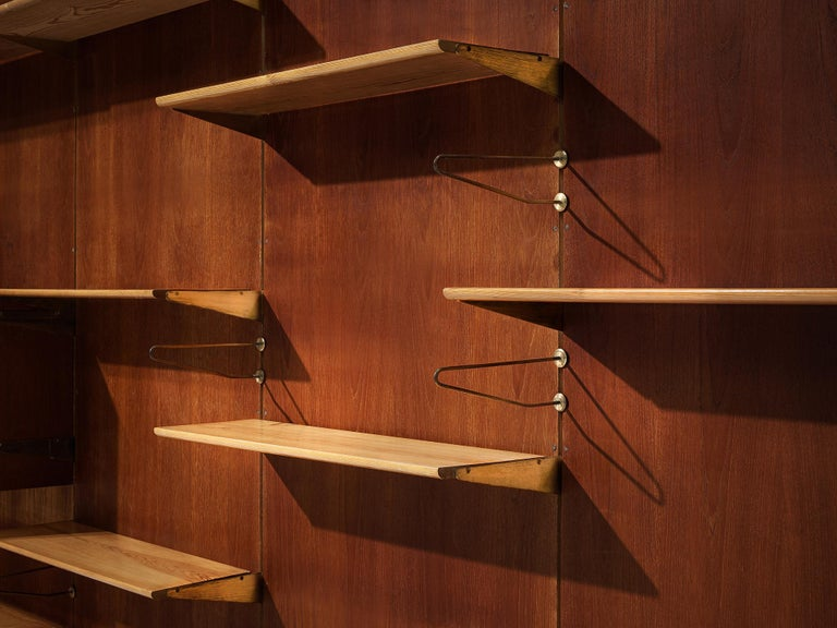 Large Finn Juhl Wall Unit for Bovirke in Teak For Sale 3