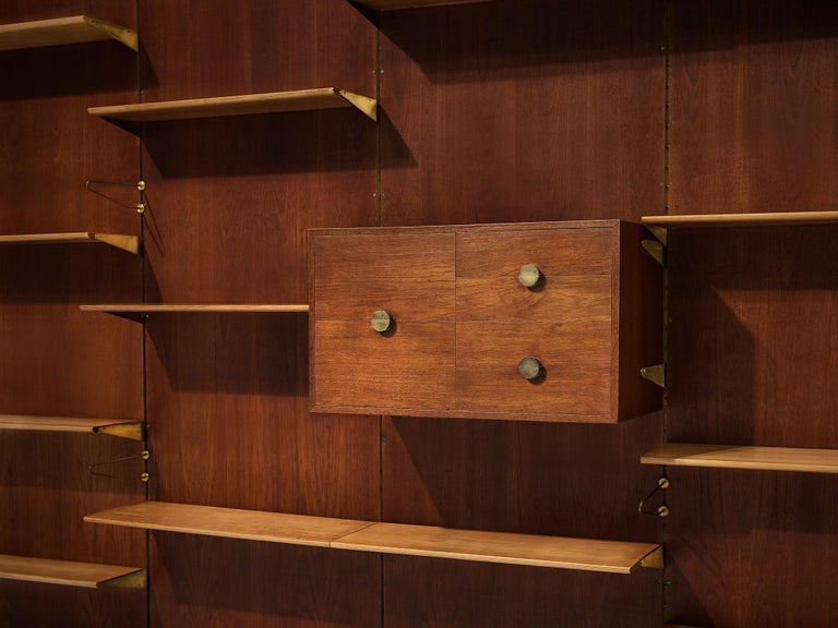 Mid-Century Modern Large Finn Juhl Wall Unit for Bovirke in Teak For Sale