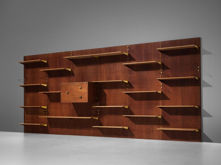 Danish Large Finn Juhl Wall Unit for Bovirke in Teak For Sale