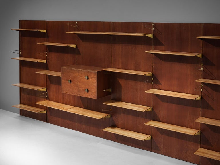 Mid-20th Century Large Finn Juhl Wall Unit for Bovirke in Teak For Sale