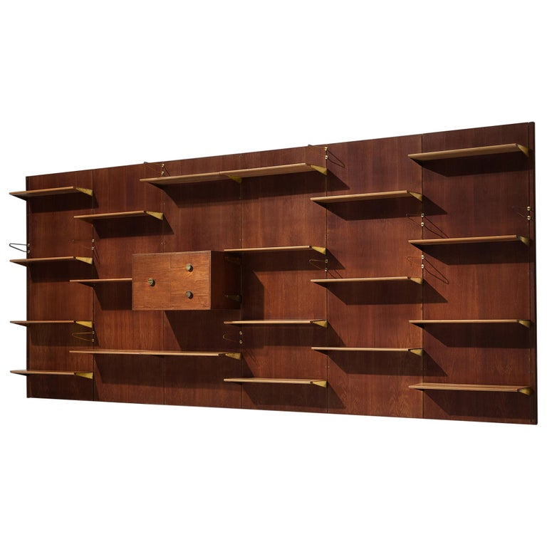 Large Finn Juhl Wall Unit for Bovirke in Teak For Sale