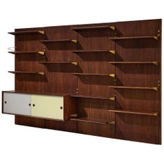 Large Finn Juhl Wall Unit for Bovirke in Teak