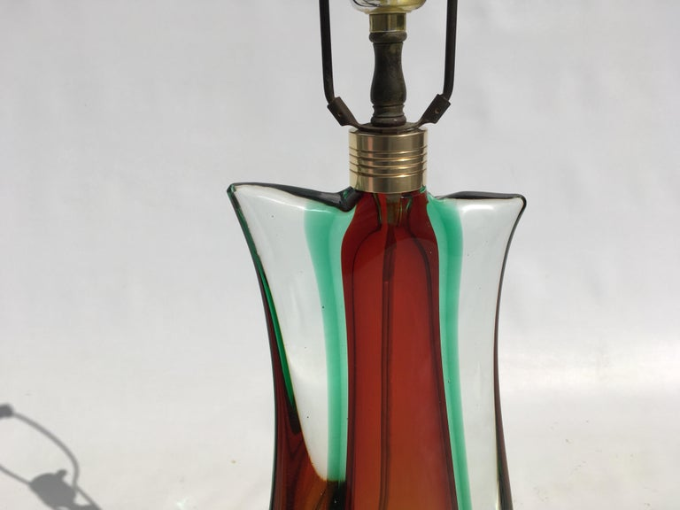 Large Flavio Poli Table Lamps for Seguso Murano Glass, Italy, Mid-Century Modern 10